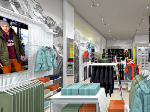 New Helly Hansen Store in Mall of Africa; horisontal fixtures