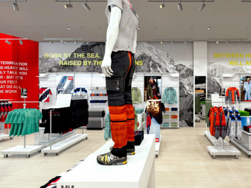 New Helly Hansen Store in Mall of Africa; visual merchandising